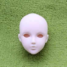 2pcs/lot Soft DIY High Quality Practice Makeup Doll Heads For 1/6 BJD as For 29cm Doll's Practicing Makeup Head Without Hair 5pieces lot soft plastic open eye practice makeup doll head 1 6 white double fold eyelid diy heads for barbies bjd make up