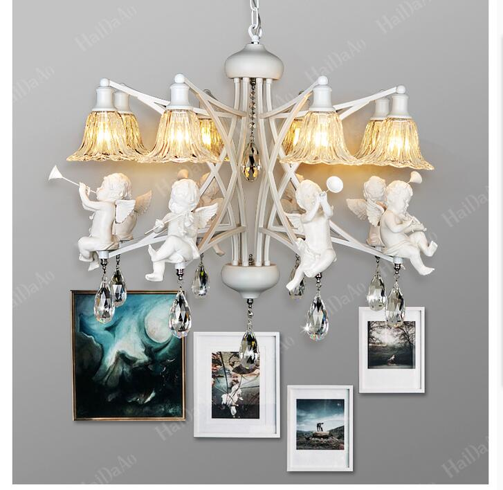 Newly European Modern Nordic Style Creative Brief Restaurant Lights Angel Violin Personalized Crystal Pendant Lamp Free Shipping free shipping 3l led l80cm modern nordic style creative brief restaurant lights bird personalized rustic glass pendant lamp