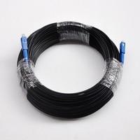 Hot Sale 100M FTTH Fiber Optic Drop Cable Patch Cord SC to SC Simplex SM SC-SC 100 Meters Drop Cable Patch Cord