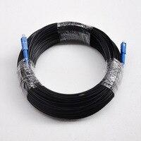 Hot Sale 100M FTTH Fiber Optic Drop Cable Patch Cord SC to SC Simplex SM SC SC 100 Meters Drop Cable Patch Cord