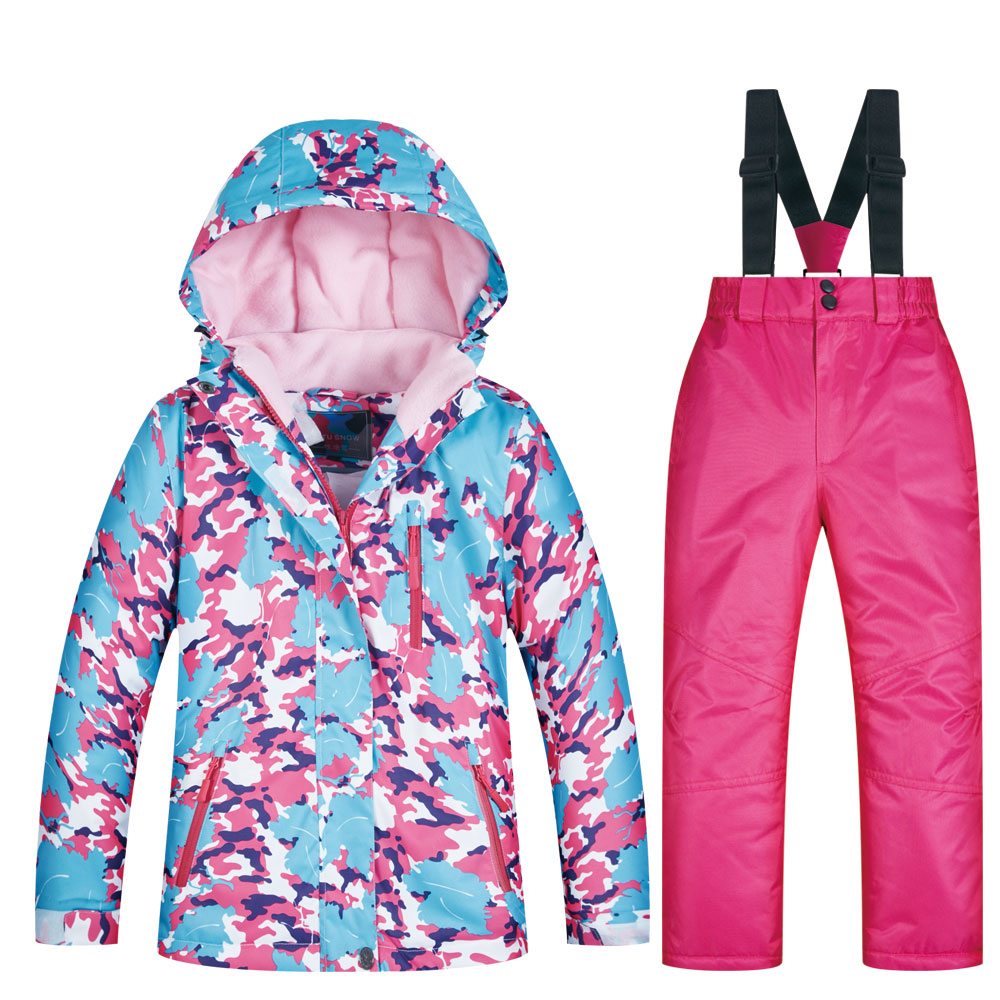 Brands Ski Suit for Child New High Quality Jacket and Pant Windproof Waterproof Snow Suit Winter Girls Ski and Snowboard Jacket