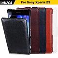 Marca imuca para sony xperia z2 pu leather flip case para xperia z2 l50w so-03 d6503 d6502 sirius cell phone case capa