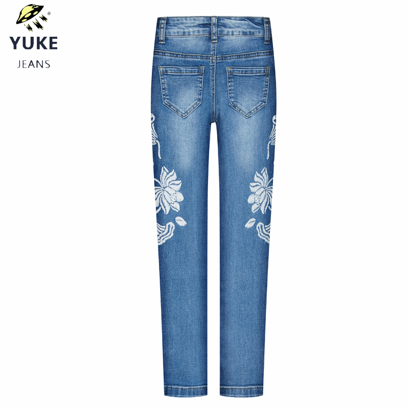 YUKE The New Girl Jeans Children 39 s Slim Jeans Sexy Elasticity Tights Kids Jeans 5 10 Age Stripe Splicing Skinny Pants I34177 in Jeans from Mother amp Kids