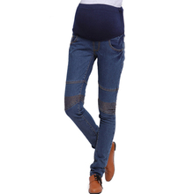 Fashion korean design maternity jeans trousers for pregnant clothes