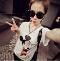 New Mickey Women T Shirts Short Sleeve Lady Print  T-Shirts Female Cartoon Tops Tee mickey mouse Tshirts
