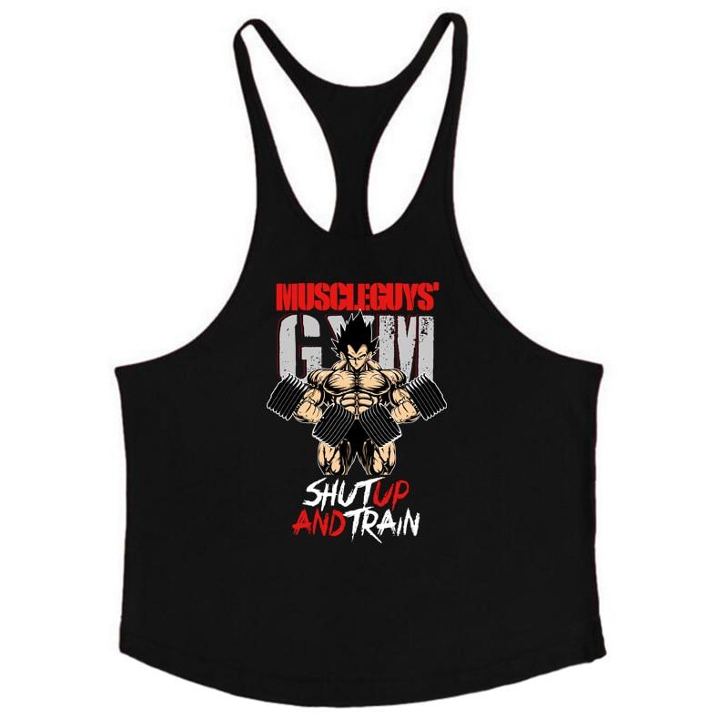 Barnd Vest Fitness Sleeveless Shirt for Men Bodybuilding clothing dragon ball tank top men gyms Stringer tanktop undershirt