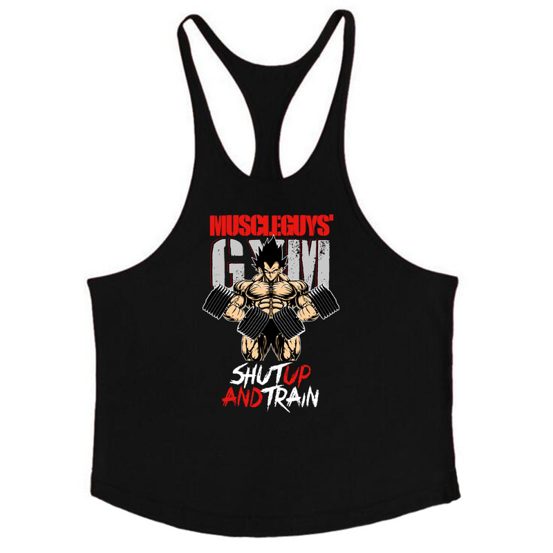Barnd Vest Fitness Sleeveless Shirt for Men Bodybuilding clothing dragon ball   tank     top   men gyms Stringer tanktop undershirt