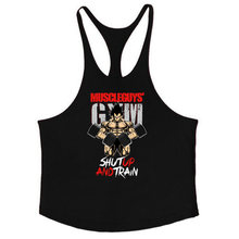 Barnd Vest Fitness Sleeveless Shirt for Men Bodybuilding clothing dragon ball tank top men gyms Stringer tanktop undershirt(China)