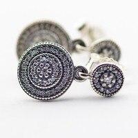 Radiant Elegancja Srebrne Kolczyki Z Jasnymi Cyrkoniami Autentyczne 925 Sterling Silver Biżuteria dla Kobiet