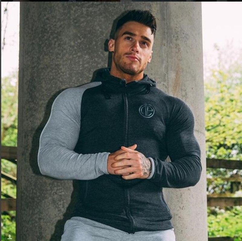 2017 Fashion New Men Hoodies and Sweatshirts brand font b clothing b font Stringer Bodybuilding font
