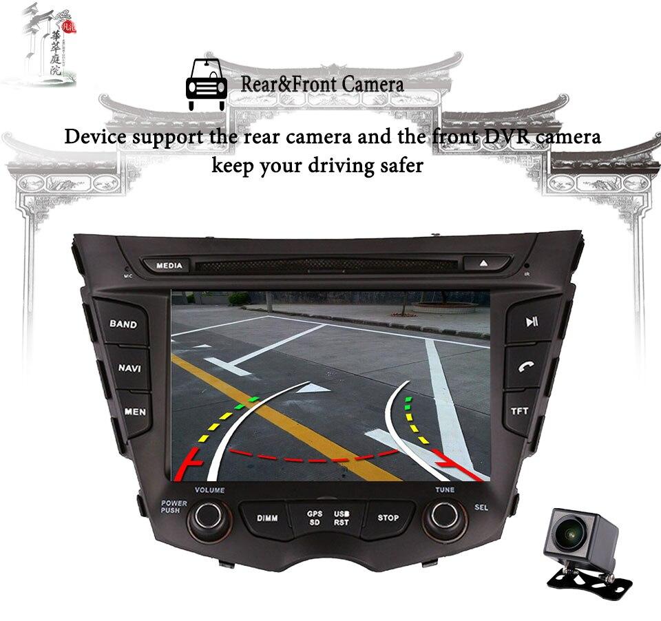 Autoradio multimédia GPS Android 9.0 Navigation lecteur DVD Octa Core Ram 4G + 64G HD écran pour Hyundai Veloster 2011-2016 stéréo