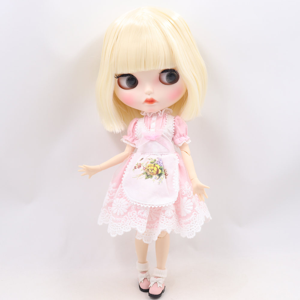 ICY Nude Blyth Doll No. BL0510 Blonde hair Carved lips Matte customized face  Joint body 1/6 bjd-in Dolls from Toys & Hobbies    2