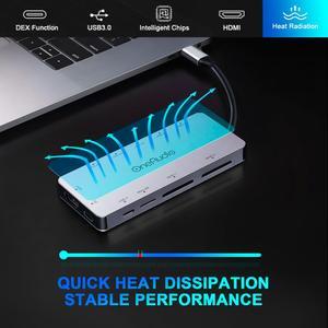 Image 5 - USB хаб OneAudio 7/11 в 1, переходная док станция для нескольких USB 2,0 3,0 4K HDMI, аксессуары для MacBook Pro, разветвитель типа C, для моделей MacBook Pro, аксессуары
