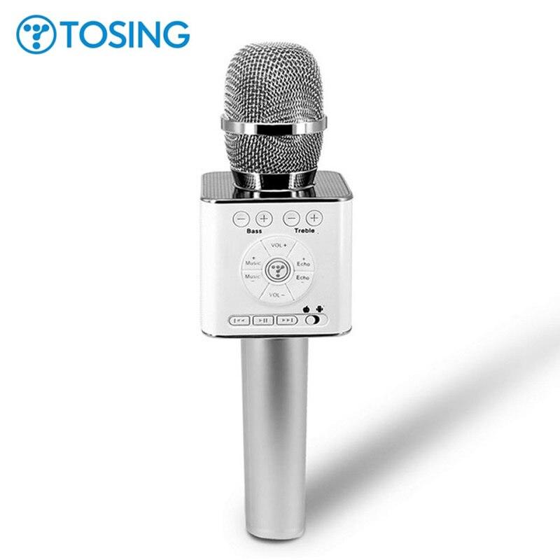 Dernières Origine Tosing 04 micro karaoké sans fil haut-parleur bluetooth 2-en-1 De Poche Chanter et Enregistrement Portable KTV Lecteur