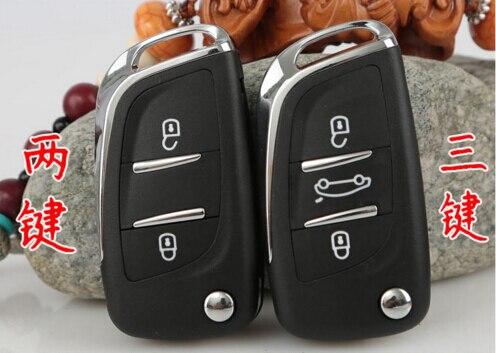 Modified Flip Remote Key Shell 2 3 BTN For Peugeot 307 408 308 for Citroen C-Triomphe C-Quatre C3 C4L C5 CE0536 With Groove