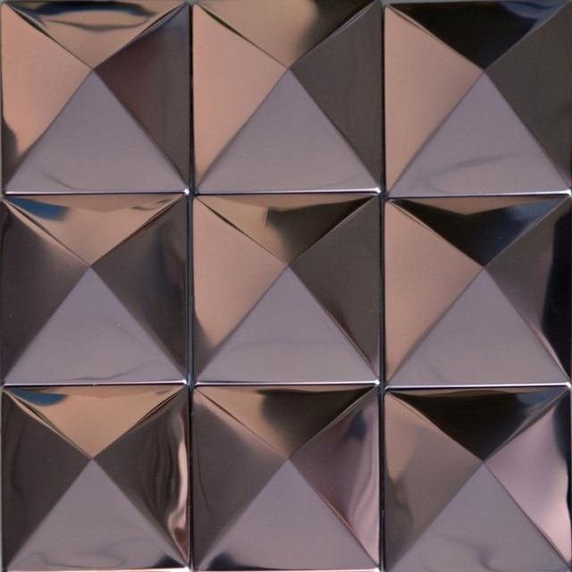 Schon Lila Farbe Pyramide Muster Edelstahl Metall Mosaik Fliesen Für Küche Backsplash  Fliesen Badezimmer Dusche Fliesen