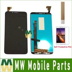Czarny biały kolor dla Alcatel One Touch Idol 2 OT6037 6037 6037B 6037L 6037Y wyświetlacz LCD + ekran dotykowy czujnik digitizer montaż