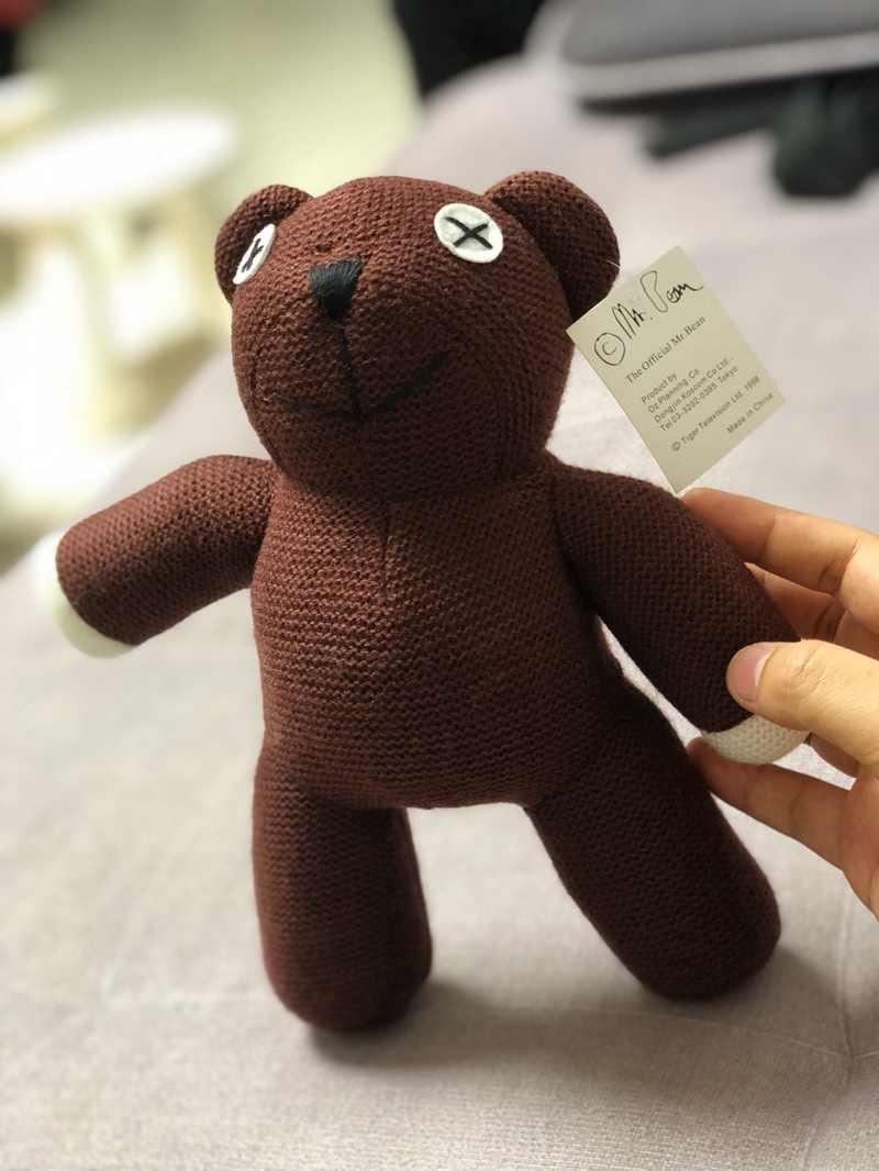 Lavorato a maglia Teddy Bear Mr Bean Teddy Bear Peluche Bambola di Pezza Morbido Marrone Figura Bambola Divertente Regalo Di Compleanno Peluche Giocattolo per dei Bambini del capretto