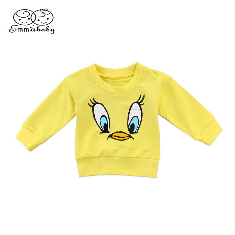 Emmababy T-Shirt Toddler Baby-Girls Boys Kids Cartoon Casual Warm 6M-5T Tops Duck-Print
