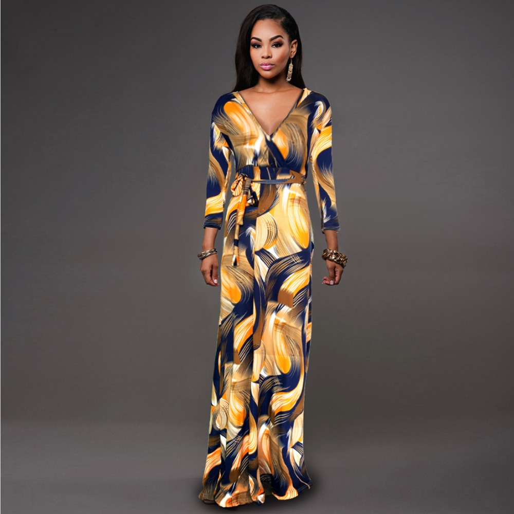 L 5xl High Quality New Fashion 2016 Designer Maxi Dress