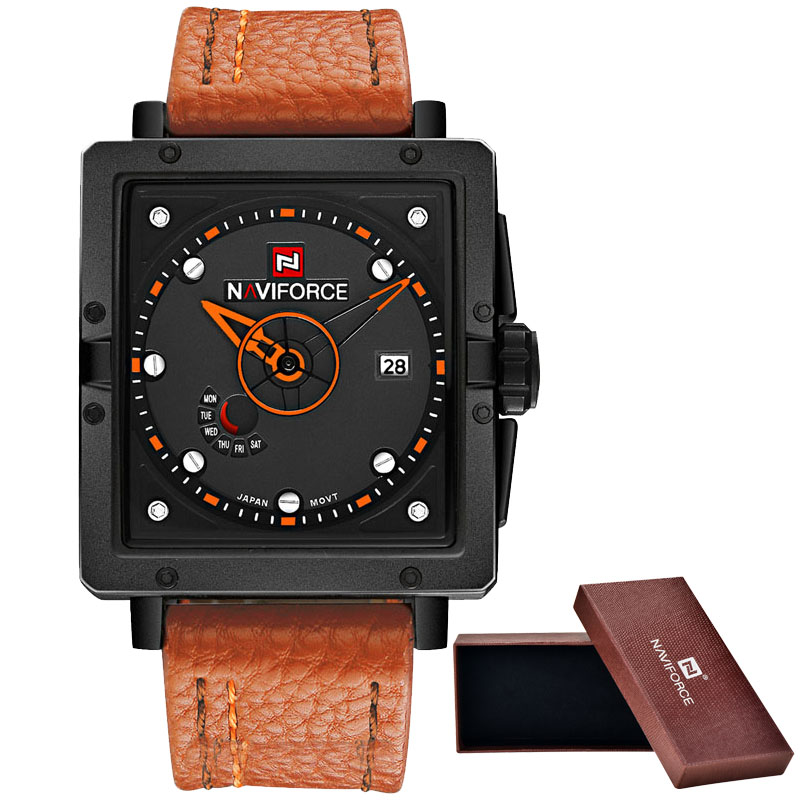 2016 New NAVIFORCE Fashion Watches Men Luxury Brand Men's Quartz Watch Date Waterproof Sport Man Clock Army Military Wrist Watch weide new men quartz casual watch army military sports watch waterproof back light men watches alarm clock multiple time zone