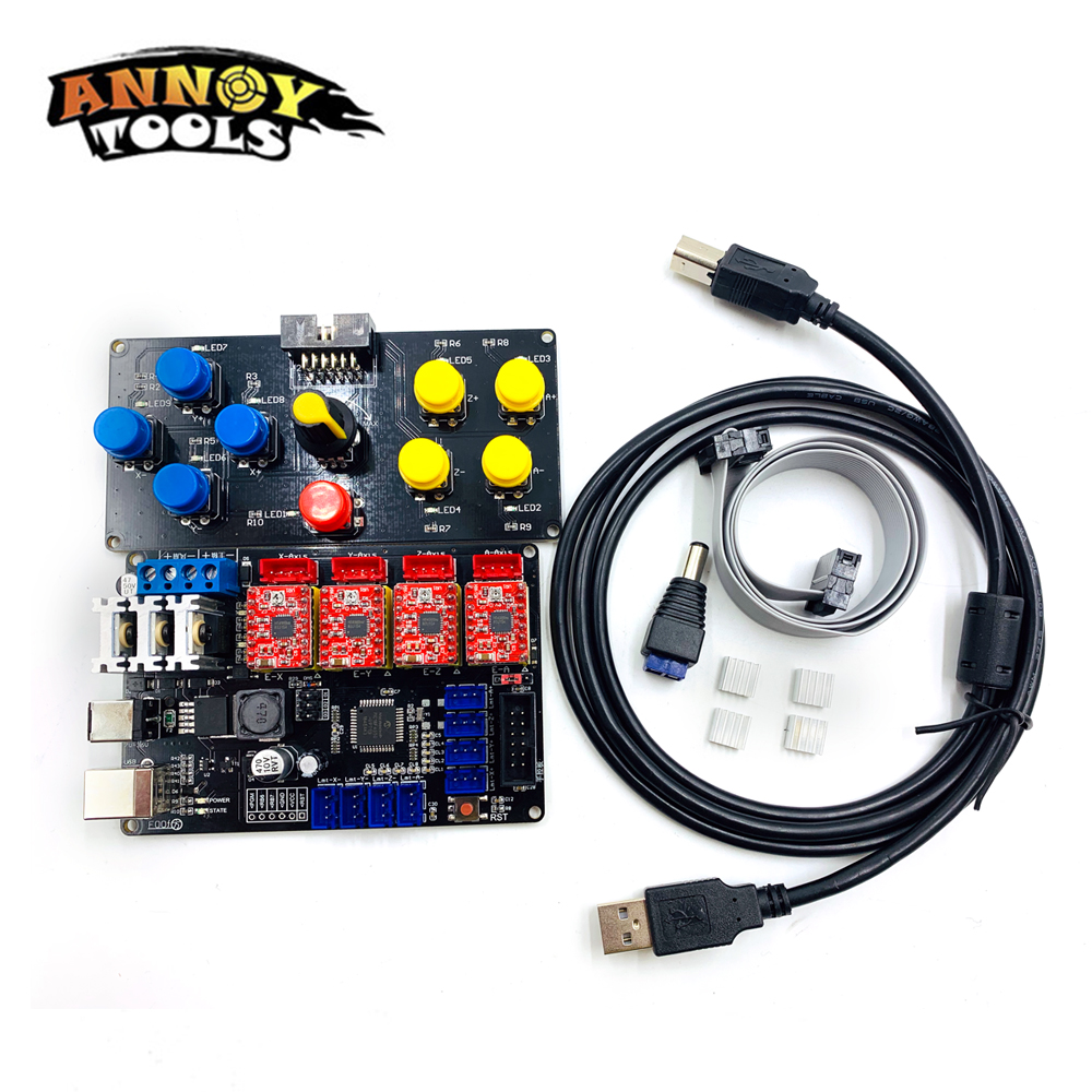 Free Shipping New DIY CNC USB controller 4 axis engraver machine control panel laser engraving machine accessory motherboardFree Shipping New DIY CNC USB controller 4 axis engraver machine control panel laser engraving machine accessory motherboard
