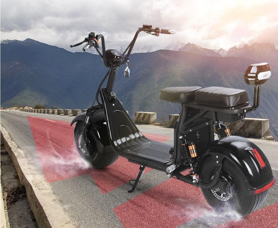 Électrique batterie au lithium Citycoco Scooter 60V20AH motos électriques Moto Electrica Haute Intelligence Double frein à disque