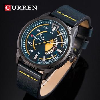91f2b55e36c7 Comprar ahora CURREN relojes para hombre marca superior reloj de cuarzo  Casual de cuero de lujo