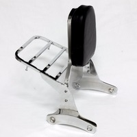 Backrest Sissy Bar Luggage Rack For Honda Shadow VT400 VT750 VT 400 750 C2 1997 2003 Motorcycle Detachable Back W/ Pad Set