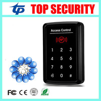 Free shipping 125KHZ smart card access control system touch keypad password door control card reader with 10pcs RFID card key