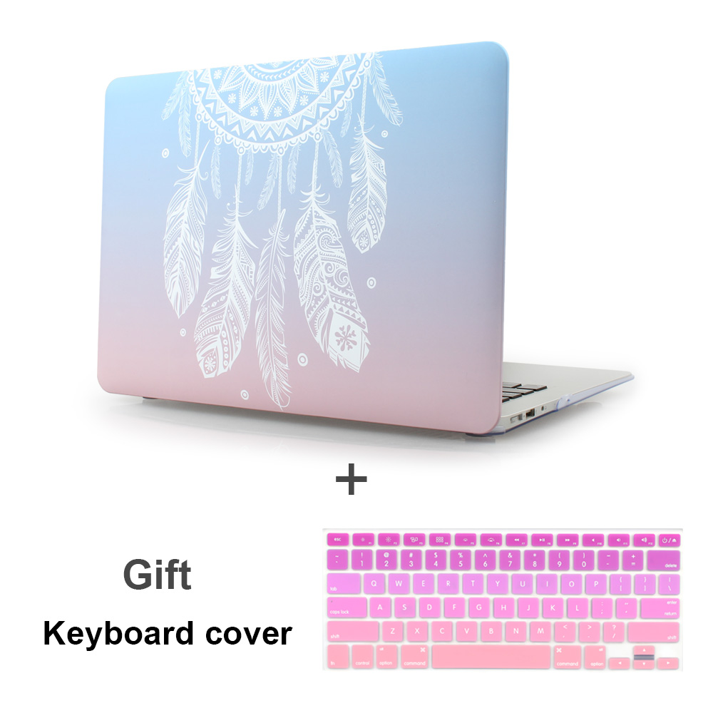 Plastic Hard Case with Keyboard Cover for MacBook Air 13 11 Pro 13 15 Retina Display & Touch Bar New 12 Inch Dream Catcher original new a1706 touch bar for macbook pro retina 13 inch a1706 2016 touchbar replacement