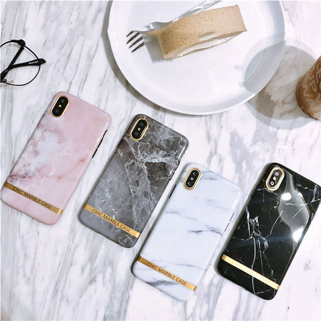 pretty nice 420bf 45436 ZMDLDZSW Simple Fashion Marble Cover for iPhone X 10 Fundas Pink Soft TPU  Case for iPhone 6 6s 7 7plus 8 8plus Girl Boys Nice