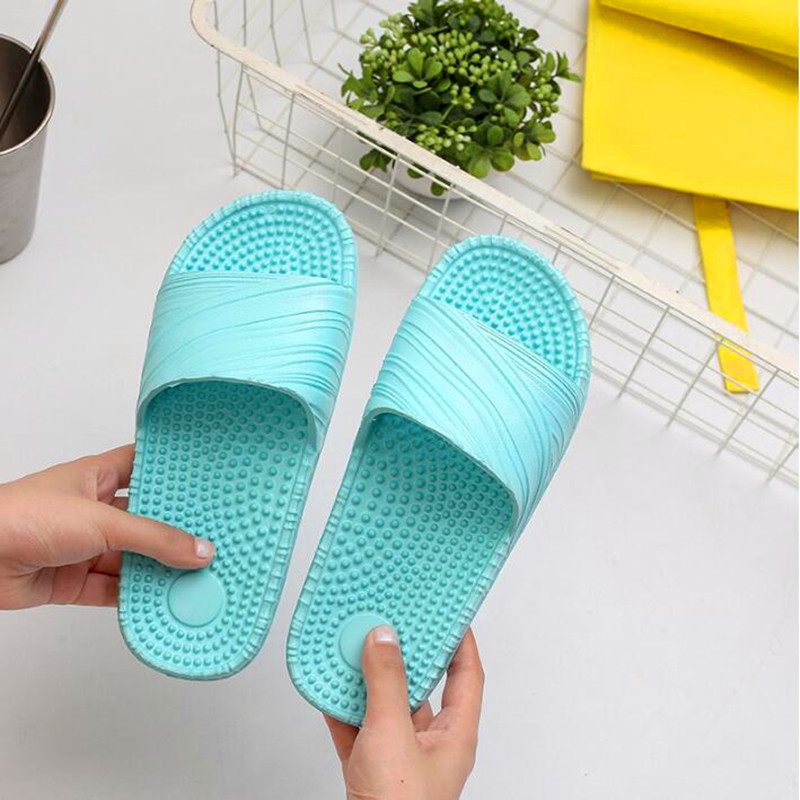 Women Summer Massage Slippers Fashion Outdoor Slides Women Beach Casual Slippers Women Bathroom Non Slip Home Slippers EU 35 39 in Slippers from Shoes