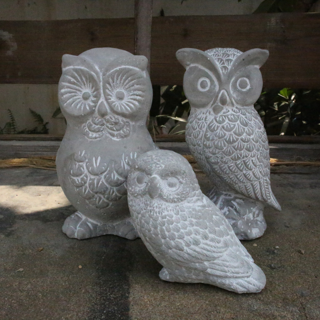 Stone Owl Garden Ornaments American country vintage cement decorative animal owl crafts garden american country vintage cement decorative animal owl crafts garden ornaments home furnishing silicone mold workwithnaturefo