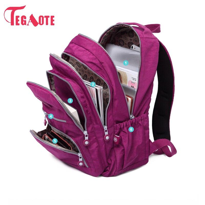 где купить TEGAOTE School Backpack For Teenage Girl Mochila Feminina Women Backpacks Nylon Waterproof Casual Laptop Bagpack Female Sac A Do по лучшей цене