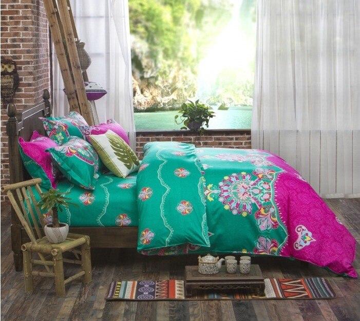Boho Yataq dəstləri Bohem stilində naxış örtüklü bir - Ev tekstil - Fotoqrafiya 4