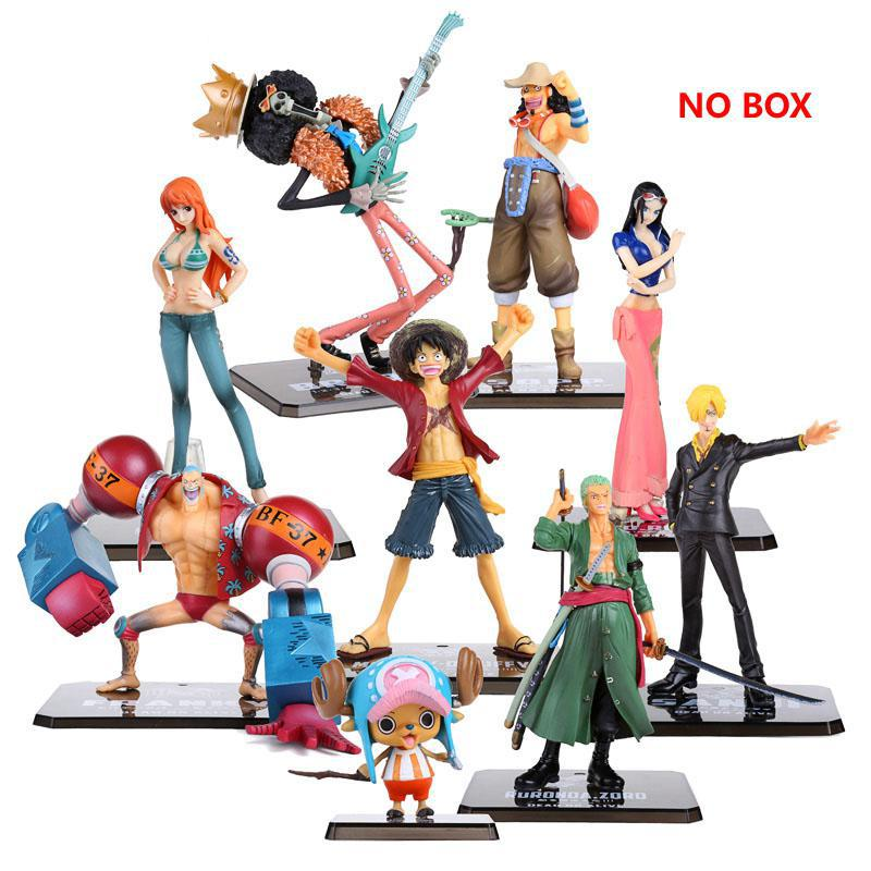 One Piece PVC Action Figure Toys No Box Luffy Zoro Robin Nami Franky Brook Chopper Sanji Usopp Figurine For Gifts trd beholder ds1 pistol grip gimbal for 5d camera nikon dslr