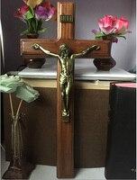 Święty katolicki święty krzyż Christian jezus ceramiczne ozdoby prezent biblii wystrój domu krzyż bóg rysunek statua chrzest pamiątka prezent w Arka Przymierza od Dom i ogród na