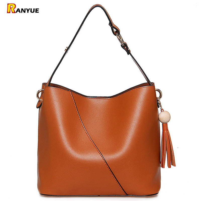 Luxury Brand Designer Tassel Bucket Bag Women PU Leather Handbags Messenger Crossbody Shoulder Bag Purse Bolsa Feminina Bolsas 2017 new women shoulder bags solid pu leather handbags ladies brand designer bucket handbag purse bolsas feminina casual totes