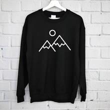 Mountain Sweatshirt, Adventure Nature Mountains sweatshirt, HappyTravel, Outdoors -E535