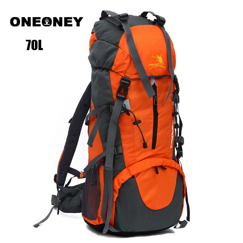 Large Capacity Waterproof Nylon Mountaineering Backpack For Camping Cycling Climbing Travel Military Tactical Backpack 70L Bolsa