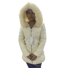 2016 New Fashion Warm Outerwear Womens Winter Down Jacket Hooded Big Fur Collar Female Coat Quilted Padded Slim Parkas Jackets