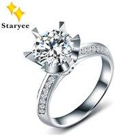 Romantic 1 Carat Forever One Moissanite Certified Pure 18K 750 Karat Solid White Gold Natural Diamond Ring For Women Gift