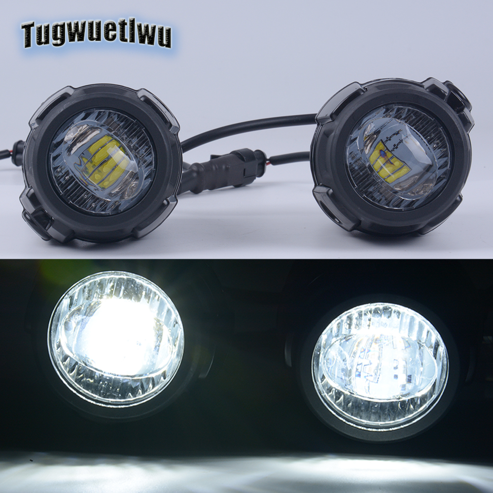 1 Pair Led Auxiliary Lamp Driving Lights Fog Light