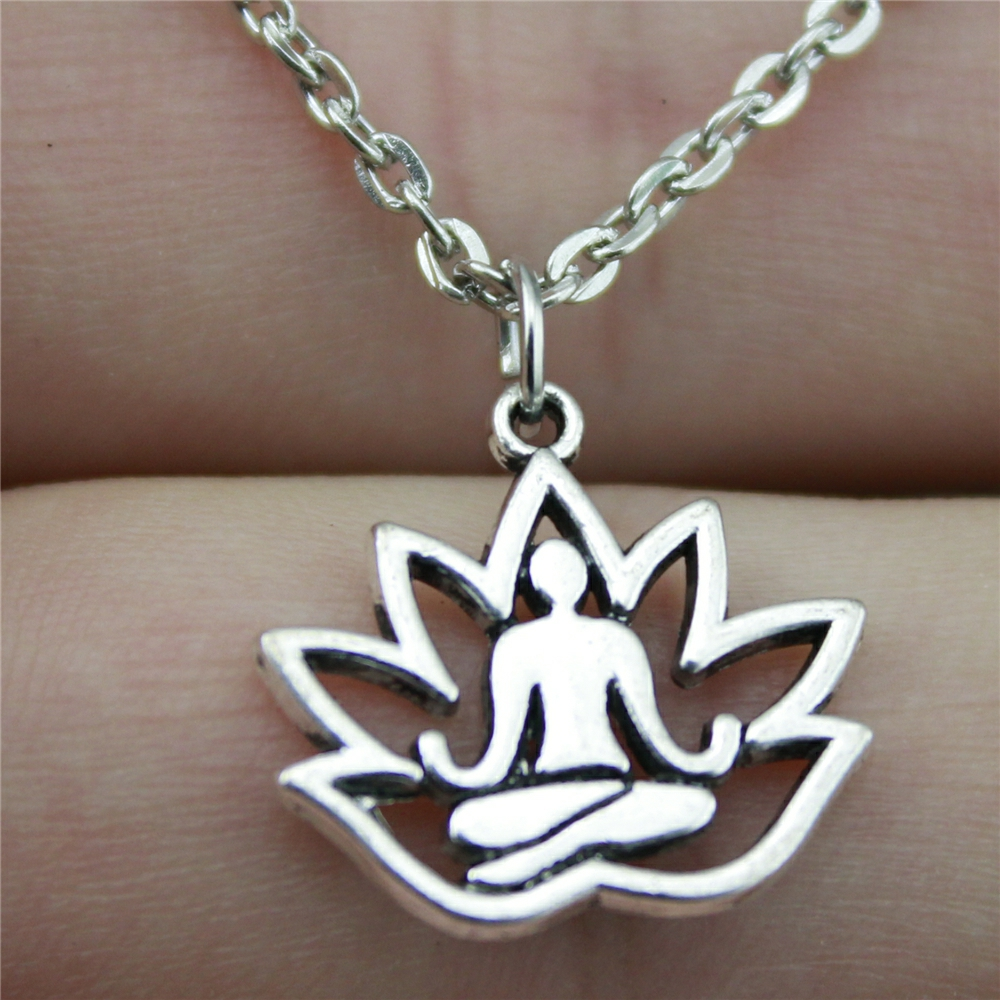 Lotus Buddha Chain Necklace 3