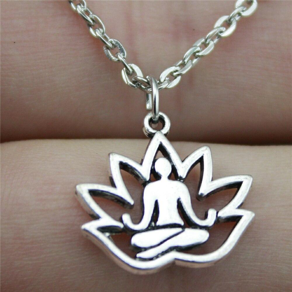 Lotus Buddha Chain Necklace 3
