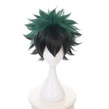 Мой герой haku цвета: зеленый, черный короткий парик для косплея костюм Boku без герой Жаростойкие накладные волосы для мужчин женщин парики