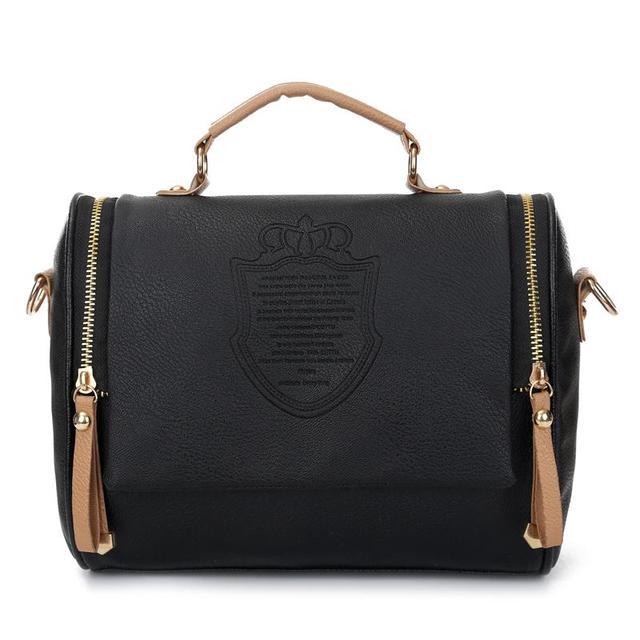 2016 Fashion Women Bag New Wave British double pull crown package Female Handbags College Wind Handbag shoulder Messenger bags