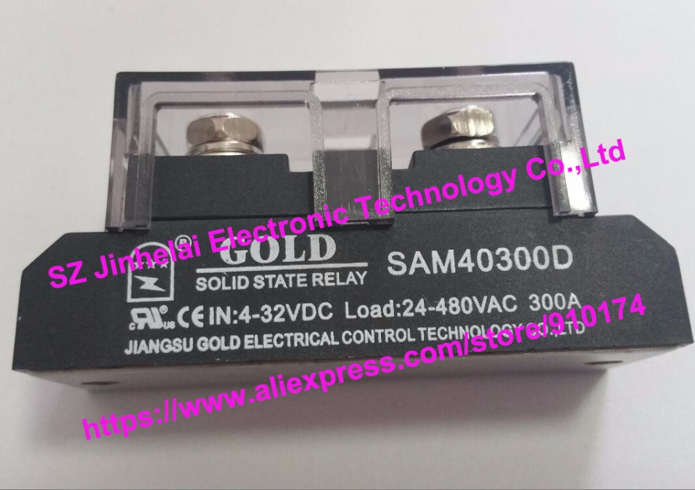 New and original SAM40300D GOLD Single-phase industrial solid state relay 4-32VDC 24-480VAC 300A new and original sa34080d sa3 4080d gold solid state relay ssr 480vac 80a