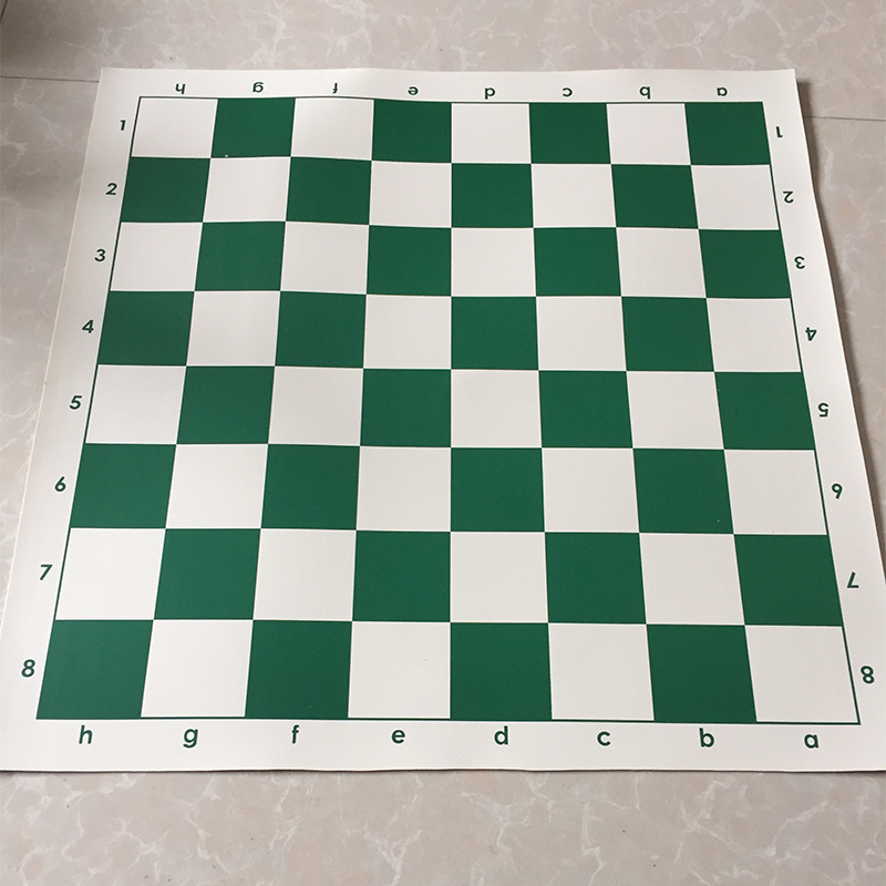 Artificial Leather Pvc Chessboard Chess Board 43 Cm Durable Black Green Red Blue Brown